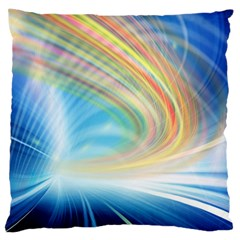 Glow Motion Lines Light Large Cushion Case (two Sides)
