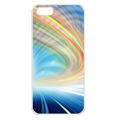Glow Motion Lines Light Apple iPhone 5 Seamless Case (White)