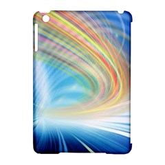 Glow Motion Lines Light Apple iPad Mini Hardshell Case (Compatible with Smart Cover)