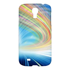 Glow Motion Lines Light Samsung Galaxy S4 I9500/I9505 Hardshell Case