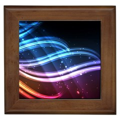 Illustrations Color Purple Blue Circle Space Framed Tiles
