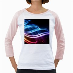 Illustrations Color Purple Blue Circle Space Girly Raglans