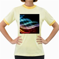 Illustrations Color Purple Blue Circle Space Women s Fitted Ringer T-Shirts