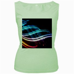 Illustrations Color Purple Blue Circle Space Women s Green Tank Top