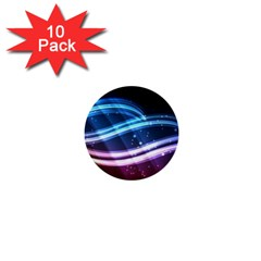 Illustrations Color Purple Blue Circle Space 1  Mini Buttons (10 Pack)