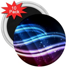 Illustrations Color Purple Blue Circle Space 3  Magnets (10 pack)