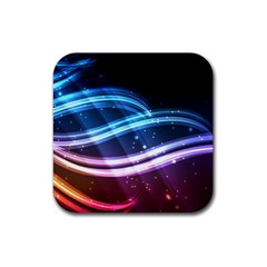 Illustrations Color Purple Blue Circle Space Rubber Coaster (square)