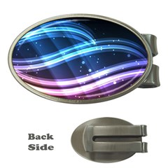 Illustrations Color Purple Blue Circle Space Money Clips (Oval)