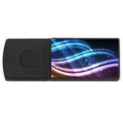 Illustrations Color Purple Blue Circle Space USB Flash Drive Rectangular (1 GB)