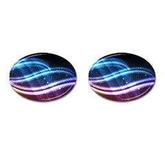Illustrations Color Purple Blue Circle Space Cufflinks (Oval)