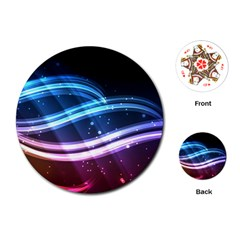 Illustrations Color Purple Blue Circle Space Playing Cards (Round)
