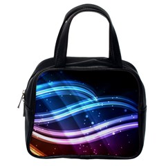 Illustrations Color Purple Blue Circle Space Classic Handbags (One Side)