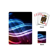Illustrations Color Purple Blue Circle Space Playing Cards (Mini)