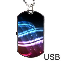 Illustrations Color Purple Blue Circle Space Dog Tag USB Flash (One Side)