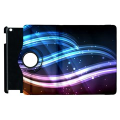 Illustrations Color Purple Blue Circle Space Apple iPad 3/4 Flip 360 Case