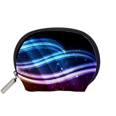 Illustrations Color Purple Blue Circle Space Accessory Pouches (Small)