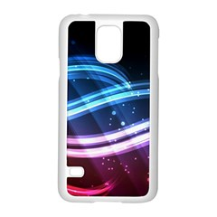 Illustrations Color Purple Blue Circle Space Samsung Galaxy S5 Case (White)