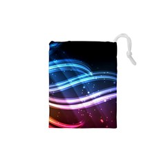 Illustrations Color Purple Blue Circle Space Drawstring Pouches (xs)