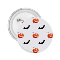 Halloween Seamless Pumpkin Bat Orange Black Sinister 2.25  Buttons