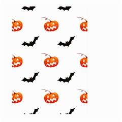Halloween Seamless Pumpkin Bat Orange Black Sinister Large Garden Flag (Two Sides)