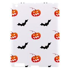 Halloween Seamless Pumpkin Bat Orange Black Sinister Apple iPad 3/4 Hardshell Case
