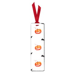 Halloween Seamless Pumpkin Bat Orange Black Sinister Small Book Marks