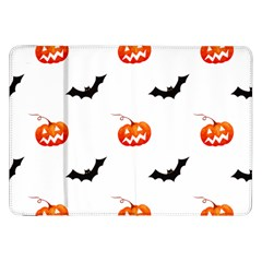 Halloween Seamless Pumpkin Bat Orange Black Sinister Samsung Galaxy Tab 8.9  P7300 Flip Case