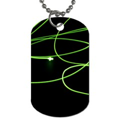 Light Line Green Black Dog Tag (two Sides)