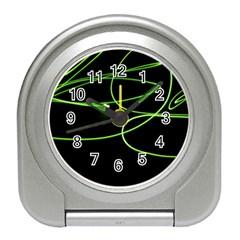 Light Line Green Black Travel Alarm Clocks