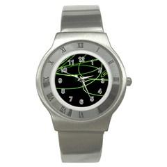 Light Line Green Black Stainless Steel Watch