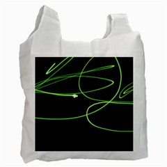 Light Line Green Black Recycle Bag (One Side)