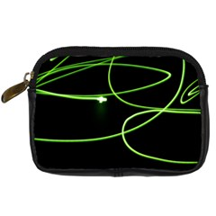 Light Line Green Black Digital Camera Cases