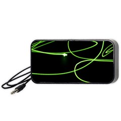 Light Line Green Black Portable Speaker (Black)