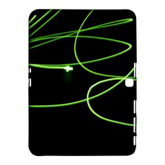 Light Line Green Black Samsung Galaxy Tab 4 (10.1 ) Hardshell Case