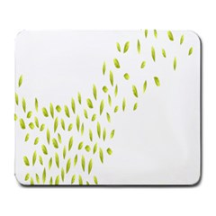 Leaves Leaf Green Fly Landing Large Mousepads