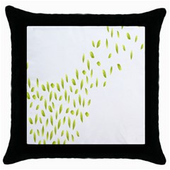 Leaves Leaf Green Fly Landing Throw Pillow Case (black)