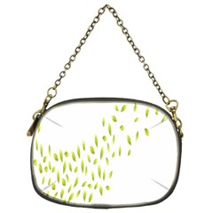 Leaves Leaf Green Fly Landing Chain Purses (One Side)