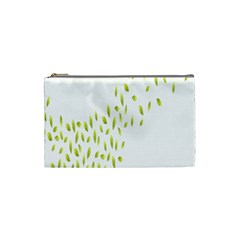 Leaves Leaf Green Fly Landing Cosmetic Bag (Small)