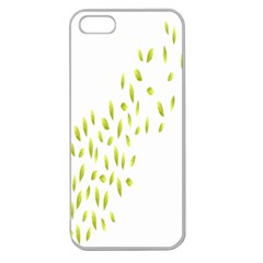 Leaves Leaf Green Fly Landing Apple Seamless iPhone 5 Case (Clear)