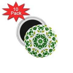 Leaf Green Frame Star 1.75  Magnets (10 pack)