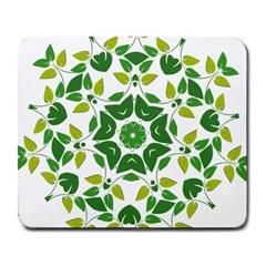 Leaf Green Frame Star Large Mousepads