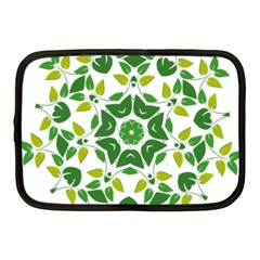 Leaf Green Frame Star Netbook Case (Medium)