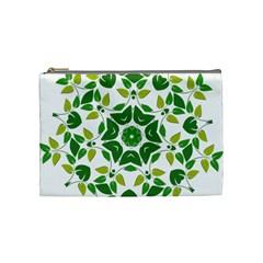 Leaf Green Frame Star Cosmetic Bag (Medium)