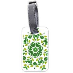 Leaf Green Frame Star Luggage Tags (one Side)