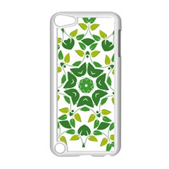 Leaf Green Frame Star Apple iPod Touch 5 Case (White)
