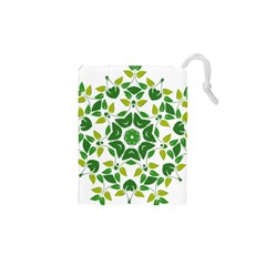 Leaf Green Frame Star Drawstring Pouches (XS)