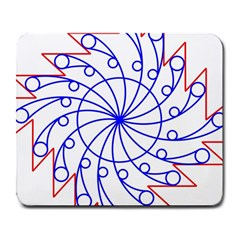 Line  Red Blue Circle Large Mousepads
