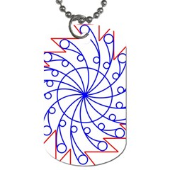 Line  Red Blue Circle Dog Tag (two Sides)