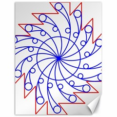 Line  Red Blue Circle Canvas 18  X 24