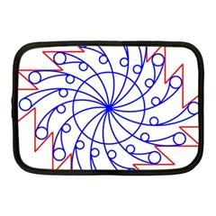 Line  Red Blue Circle Netbook Case (Medium)